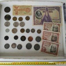 Monedas de España: LOTE DE MONEDAS Y BILLETES ESPAÑOLES DE VARIAS ÉPOCAS . Lote 114730643