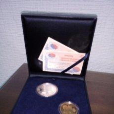 Monedas de España: SERIE BODA S.A.R. EL PRINCIPE DE ASTURIAS CON DOÑA LETIZIA ORTIZ ROCASOLANO. Lote 114920643