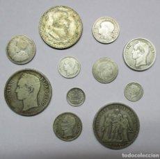 Monedas de España: CONJUNTO DE ONCE MONEDAS EXTRANJERAS DE PLATA LA MAYORÍA EUROPEAS Y AMERICANAS. LOTE 0927. Lote 115021055