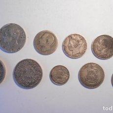Monedas de España: LOTE 11 MONEDAS DE PLATA GOB. PROVISIONAL,ALFONSO XII, ALFONSO XIII,MARCOS, FRANCOS SUIZOS,SHILLINGS. Lote 115300211