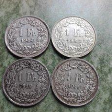 Monedas de España: LOTE MONEDAS DE PLATA DE SUIZA. Lote 116918667