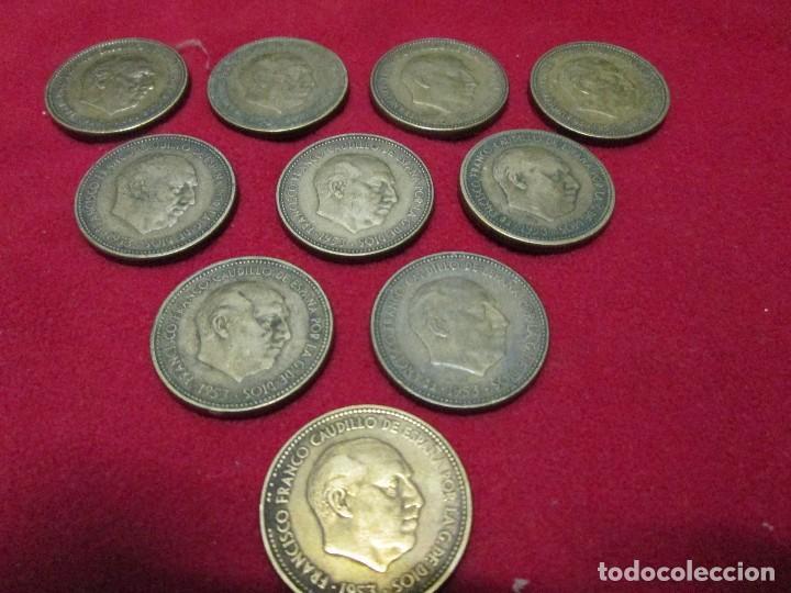 10 MONEDAS ESPAÑOLAS DE 2,50 PESETAS 1953 (Numismática - España Modernas y Contemporáneas - Colecciones y Lotes de conjunto)