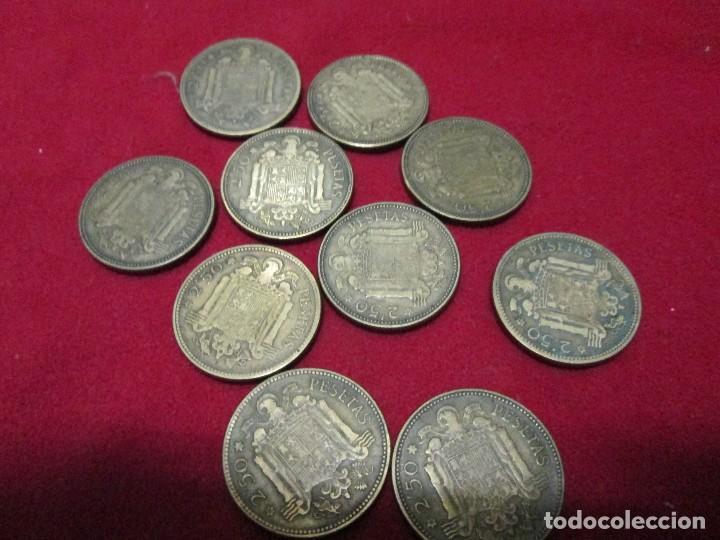 Monedas de España: 10 monedas españolas de 2,50 pesetas 1953 - Foto 2 - 117647687