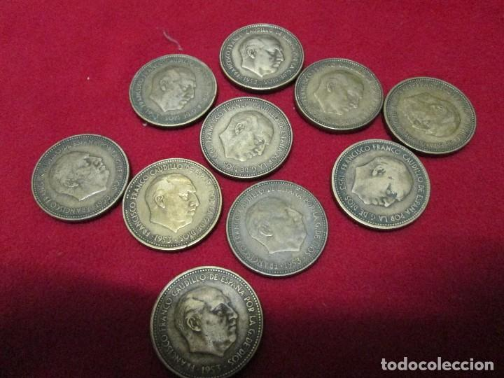 Monedas de España: 10 monedas españolas de 2,50 pesetas 1953 - Foto 3 - 117647687