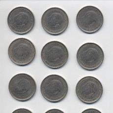 Monedas de España: LOTE 12 MONEDAS DE 25 PESETAS 1957*58 ESTRELLAS VISIBLES EBC/EBC- 3 CON ERROR. Lote 117974535