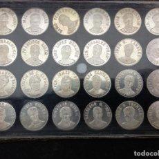 Monedas de España: LOTE 24 MONEDAS REAL CLUB DEPORTIVO PLATA EN ESTUCHE COLECCIÓN COMPLETA ÉPOCA SUPER DEPOR. Lote 118709055