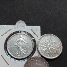 Monedas de España: LOTE MONEDAS FRANCIA PLATA 5 FR Y 2. Lote 119547355