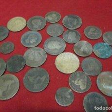 Monedas de España: 25 MONEDAS DE COBRE A CLASIFICAR. Lote 120019247