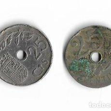 Monedas de España: MONEDAS DE 25 CENTIMOS ESPAÑA 1927 Y 1937. Lote 121335299