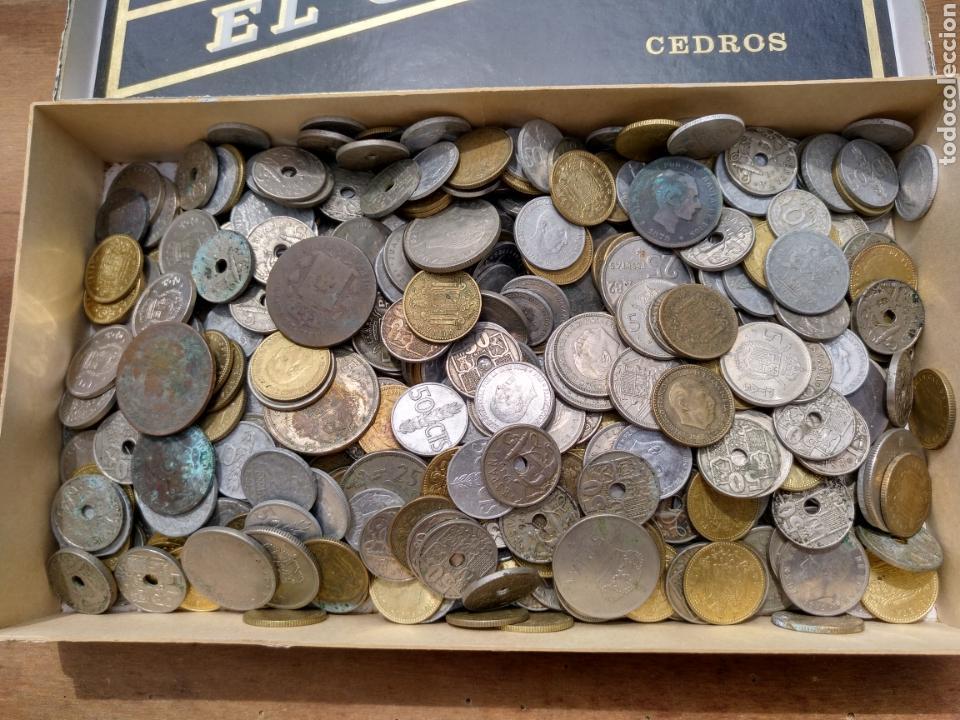 Monedas de España: 1- Caja con monedas. A clasificar. Casi dos kilos. - Foto 2 - 121348448