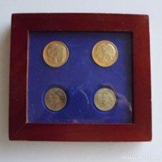 Monedas de España: DOS MONEDAS BODAS DE REYES DE ESPAÑA CON MARCO Y CRISTAL. Lote 81937508
