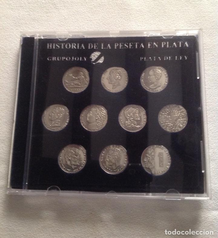 COLECCION HISTORIA LA PESETA EN PLATA (Numismática - España Modernas y Contemporáneas - Colecciones y Lotes de conjunto)