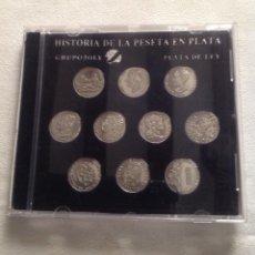 Monedas de España: COLECCION HISTORIA LA PESETA EN PLATA, EDITORIAL GRUPO YOLY. Lote 121906379