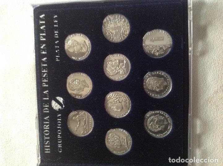 Monedas de España: COLECCION HISTORIA LA PESETA EN PLATA - Foto 2 - 121906379