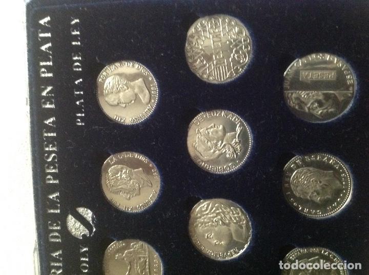 Monedas de España: COLECCION HISTORIA LA PESETA EN PLATA - Foto 4 - 121906379