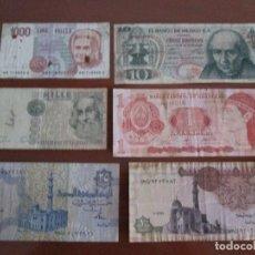 Monedas de España: 6 BILLETES EXTRANJEROS CIRCULADOS. Lote 124650175