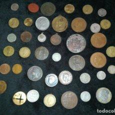 Monedas de España: LOTE 41 MONEDAS Y MEDALLAS ANTIGUAS DESDE PRINCIPIOS DE 1800 . Lote 125213419