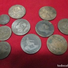 Monedas de España: 10 MONEDAS DE COBRE 80 GRAMOS A IDENTIFICAR. Lote 127644891