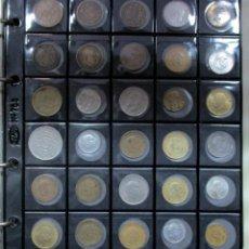 Monedas de España: ALBUM PARDO CONTENIENDO 190 MONEDAS ANTIGUAS DE ESPAÑA Y EXTRANJERAS EN DIFERENTES METALES LOTE-1119. Lote 127914835