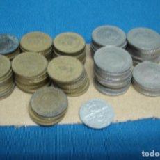 Monedas de España: -MONEDAS DE LOS 50 A LOS 80 - UNAS 100 UNIDADES. Lote 128228307
