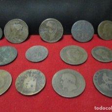 Monedas de España: 13 ANTIGUAS MONEDAS DE COBRE =VEAN FOTOGRAFIAS Y DESCRIPCION. Lote 129092851