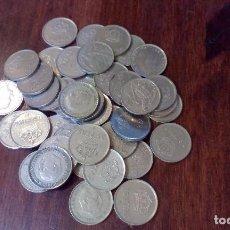 Monedas de España: LOTE 40 MONEDAS DE 25 PESETAS O CINCO DUROS. Lote 130328538