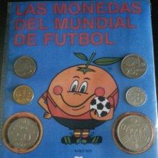 Monedas de España: SERIE DE MONEDAS DEL MUNDIAL ESPAÑA 1982 CON SU MASCOTA NARANJITO. Lote 131129380