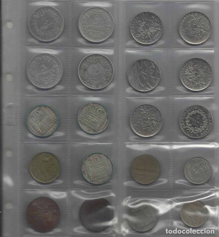 ÁLBUM MONEDAS FRANCIA. 394 MONEDAS ANTES DEL EURO. CAJA, ÁLBUM Y 10 HOJAS PLÁSTICO INCLUIDO. (Numismática - España Modernas y Contemporáneas - Colecciones y Lotes de conjunto)
