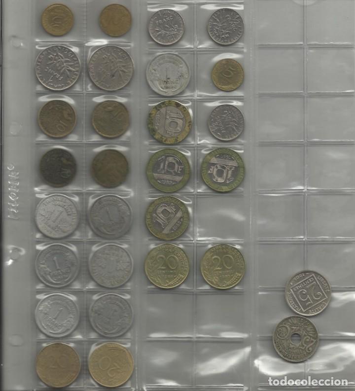 Monedas de España: ÁLBUM MONEDAS FRANCIA. 394 MONEDAS ANTES DEL EURO. CAJA, ÁLBUM Y 10 HOJAS PLÁSTICO INCLUIDO. - Foto 3 - 131438846