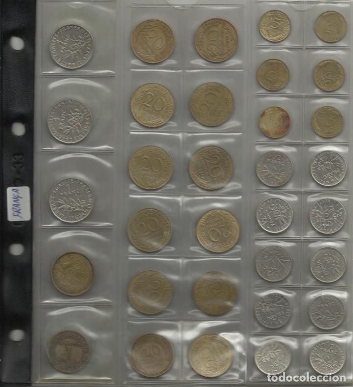 Monedas de España: ÁLBUM MONEDAS FRANCIA. 394 MONEDAS ANTES DEL EURO. CAJA, ÁLBUM Y 10 HOJAS PLÁSTICO INCLUIDO. - Foto 4 - 131438846