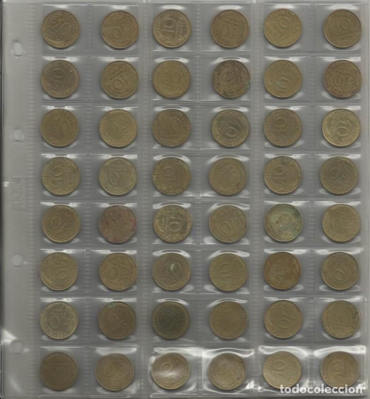 Monedas de España: ÁLBUM MONEDAS FRANCIA. 394 MONEDAS ANTES DEL EURO. CAJA, ÁLBUM Y 10 HOJAS PLÁSTICO INCLUIDO. - Foto 7 - 131438846