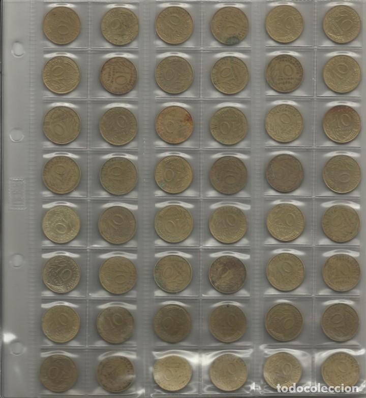 Monedas de España: ÁLBUM MONEDAS FRANCIA. 394 MONEDAS ANTES DEL EURO. CAJA, ÁLBUM Y 10 HOJAS PLÁSTICO INCLUIDO. - Foto 8 - 131438846