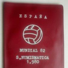 Monedas de España: CARTERA SERIE NUMISMATICA 1980 MUNDIAL 82 MONEDAS JUAN CARLOS I ESPAÑA. Lote 131947115