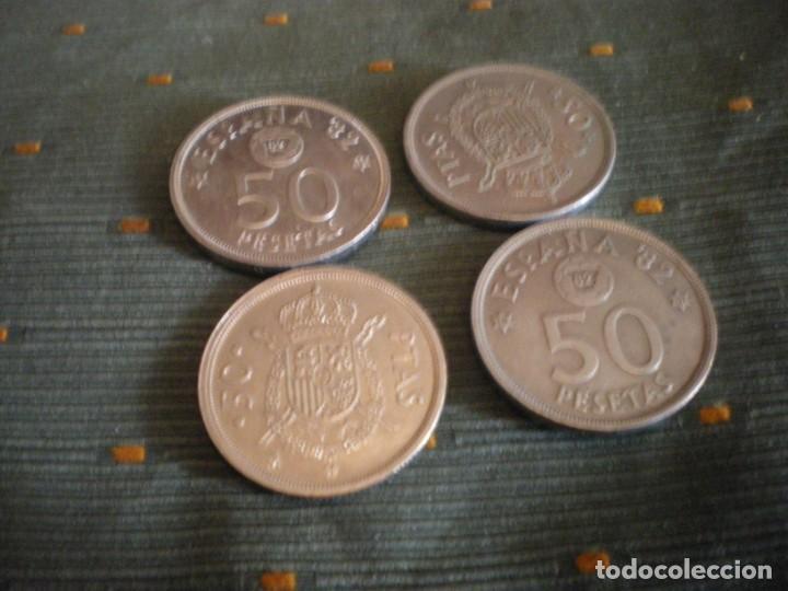 MONEDAS DE 50 PESETAS ESPAÑOLAS USADAS Y CIRCULADAS (Numismática - España Modernas y Contemporáneas - Colecciones y Lotes de conjunto)