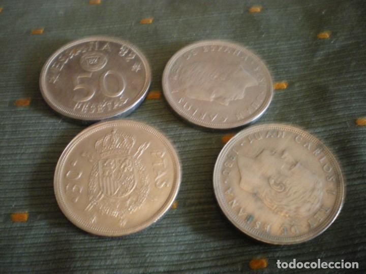 Monedas de España: MONEDAS DE 50 PESETAS ESPAÑOLAS USADAS Y CIRCULADAS - Foto 2 - 132307782