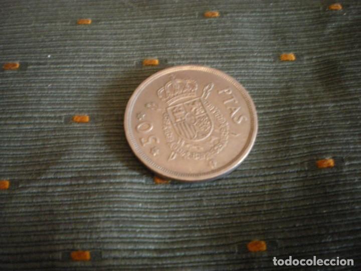 Monedas de España: MONEDAS DE 50 PESETAS ESPAÑOLAS USADAS Y CIRCULADAS - Foto 4 - 132307782
