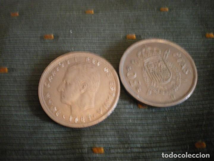 Monedas de España: MONEDAS DE 50 PESETAS ESPAÑOLAS USADAS Y CIRCULADAS - Foto 10 - 132307782