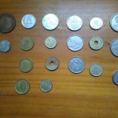 Monedas de España: 19 MONEDAS ESPAÑA - DIFERENTES TODAS - DIFERENTES PERÍODOS - DIFERENTES VALORES.. Lote 133236154