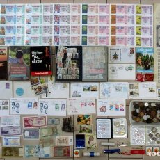 Monedas de España: CAJA CON MONEDAS, BILLETES LIBROS, LOTERIA, CROMOS ANTIGUOS, MECHEROS, SELLOS, CROMOS, ETC LOTE 0133. Lote 133330038