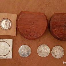 Monedas de España: LOTE MONEDAS DE PLATA,CONMEMORATIVAS,FRANCO,ECU,JUAN CARLOS,AUSTRALIA,VER DETALLES. Lote 133357730