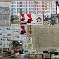 Monedas de España: CAJA CON MONEDAS, BILLETES LIBROS, LOTERIA, MECHEROS, S.P.D. MAPA, ACCION, SELLOS, O.N.C.E LOTE 0134. Lote 133556258