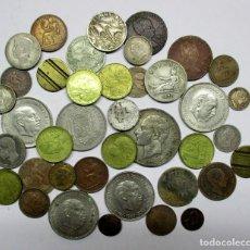 Monedas de España: CONJUNTO DE MONEDAS ANTIGUAS DE ESPAÑA, FICHAS, MEDALLA, ETC. ALGUNAS DE PLATA. LOTE 1199. Lote 133704678