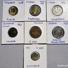 Monedas de España: MUNDO - LOTE DE 7 MONEDAS, DIFERENTES PAISES Y AÑOS - MBC. Lote 135111186