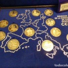 Monedas de España: COLECCION DE LA EUROPA DE LOS DOCE CEE. 12 MONEDAS DE PLATA 1000/1000. ACUÑACIONES IBERICAS. 4 CM. Lote 135385546