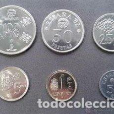 Coins of Spain - lote serie completa mundial 82 en pesetas y serie 1975 - 136279466