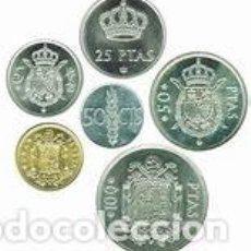 Coins of Spain - lote serie completa 1975 en pesetas - 136279578