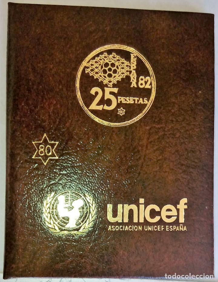 CARTERA COLECCION COMPLETA MUNDIAL DE FUTBOL ESPAÑA 1982 ESTRELLA 80-UNICEF- (Numismática - España Modernas y Contemporáneas - Colecciones y Lotes de conjunto)