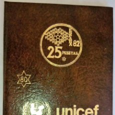 Monedas de España: CARTERA COLECCION COMPLETA MUNDIAL DE FUTBOL ESPAÑA 1982 ESTRELLA 80-UNICEF-. Lote 143107278