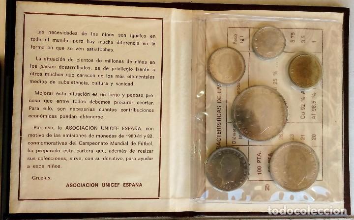 Monedas de España: CARTERA COLECCION COMPLETA MUNDIAL DE FUTBOL ESPAÑA 1982 ESTRELLA 80-UNICEF- - Foto 3 - 143107278
