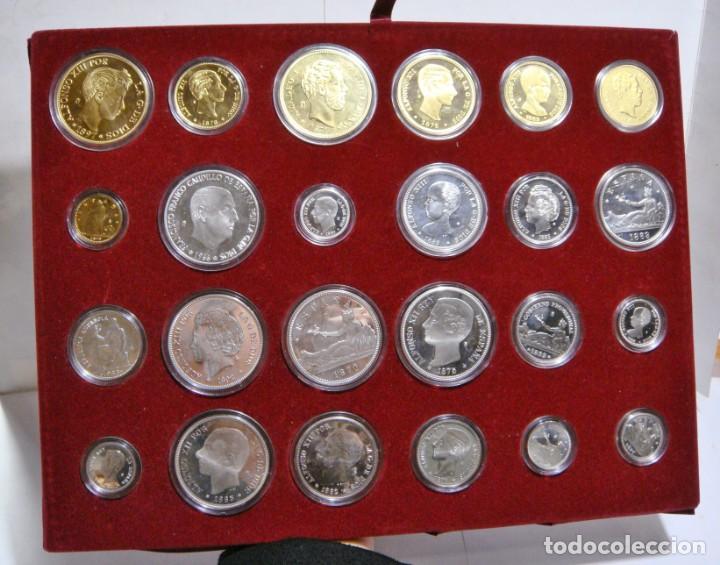 HISTORIA DE LA PESETA. EMISION ESPECIAL PLATA Y ORO. 24 MONEDAS FNMT (Numismática - España Modernas y Contemporáneas - Colecciones y Lotes de conjunto)